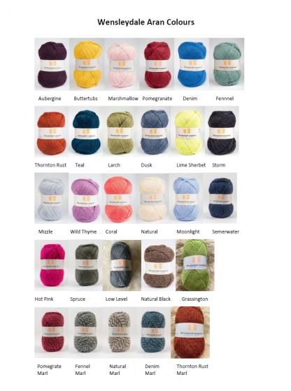 Wensleydale Aran Colours v3