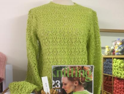 Lime Bitters Knitwear in Wensleydale Lime Sherbert