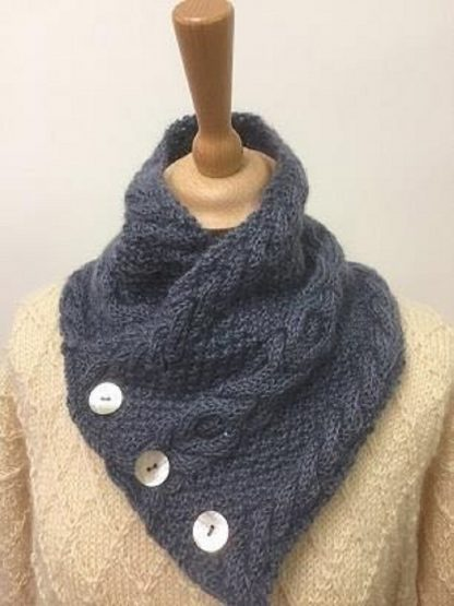 Wensleydale Cable Button Collar