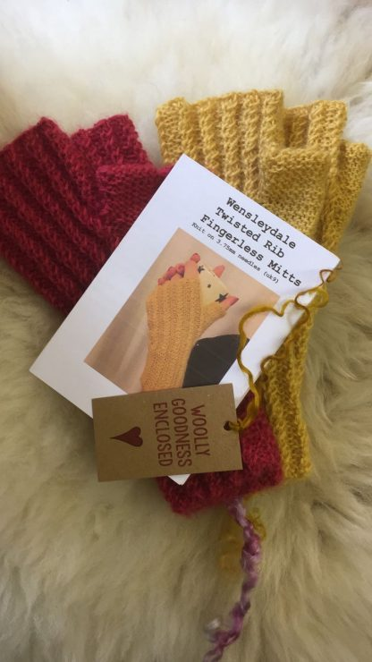Wensleydale Twisted Rib Fingerless Mitts