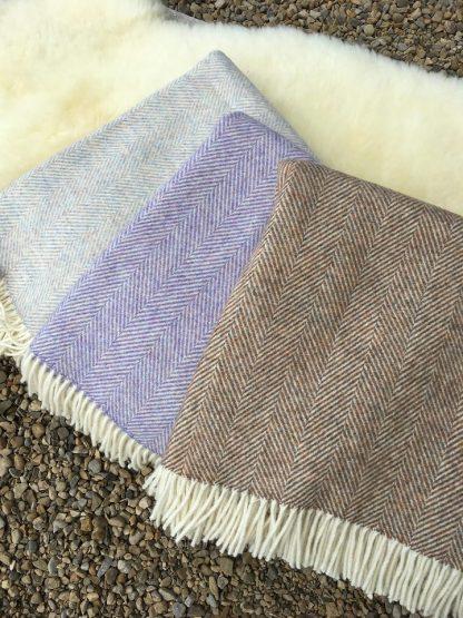 Pure Wool Herringbone Travel Rugs - group view