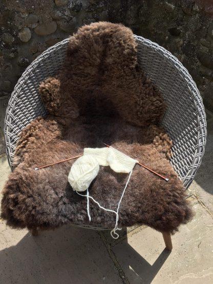Large Sheepskin Rug - Rare Breed brown