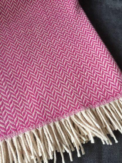 Rug - Herringbone Cerise Pink