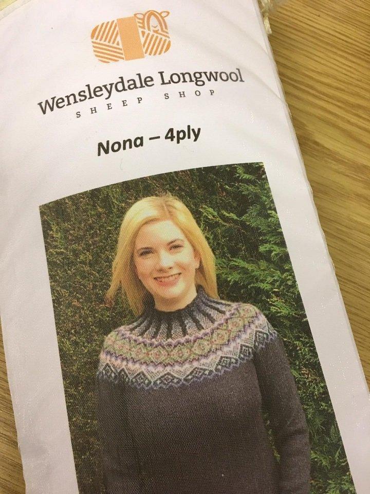 Wensleydale Nona 4 Ply Jumper kit pattern