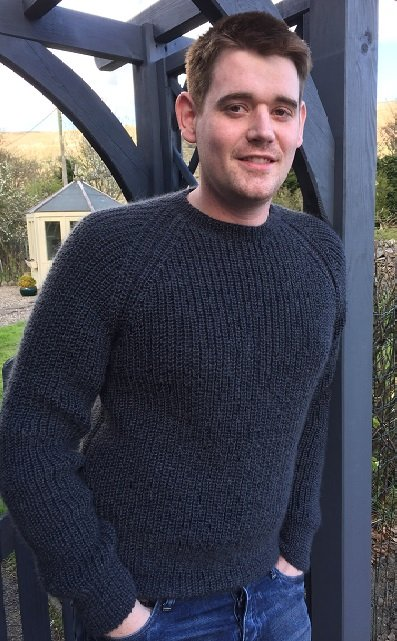 Michael Fishermans Rib sweater in Wensleydale Aran wool