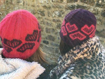 The Wensleydale Longwool Friendship Hat rear view