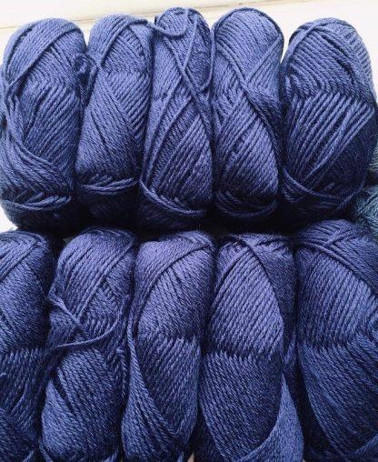 DK Navy British Wool balls
