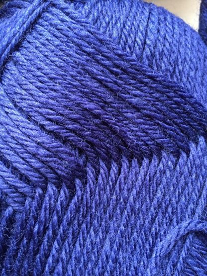 DK Navy British Wool closeup