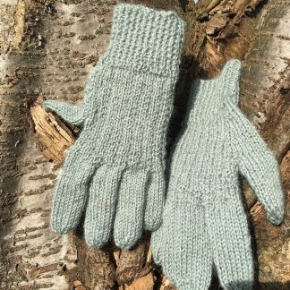 Hand Knit Gloves Fennel Medium