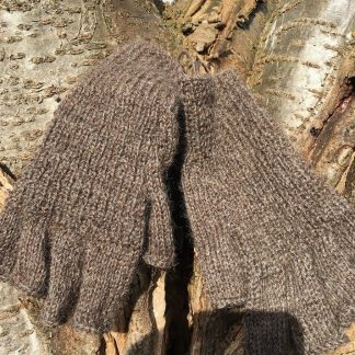 Gloves Natural Black fingerless