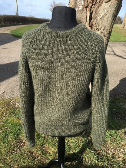 Michael Fishermans Rib Jumper - Spruce