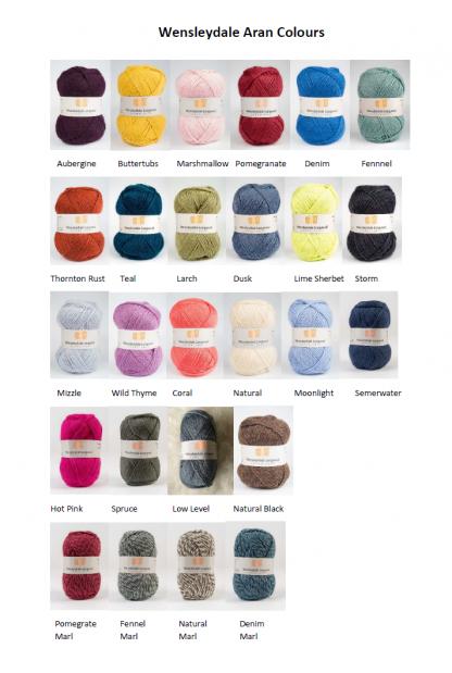 Wensleydale Aran Colours 2020