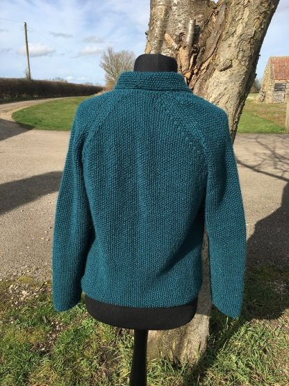 Wensleydale Beryl Jacket Teal - back