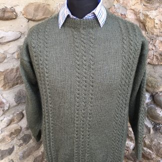 Alistair jumper - Spruce front