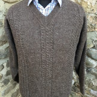 Angus Jumper - Natural Black front