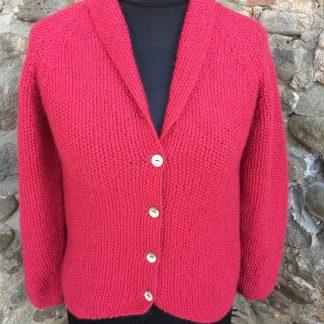 Beryl Jacket - Pomegranate front