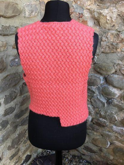 Charlie waistcoat - Coral back