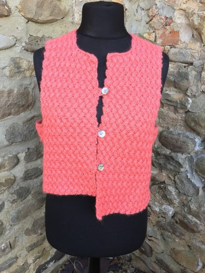 Charlie waistcoat - Coral - front