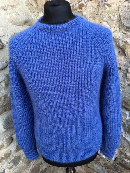 Fishermans Rib sweater - Denim front