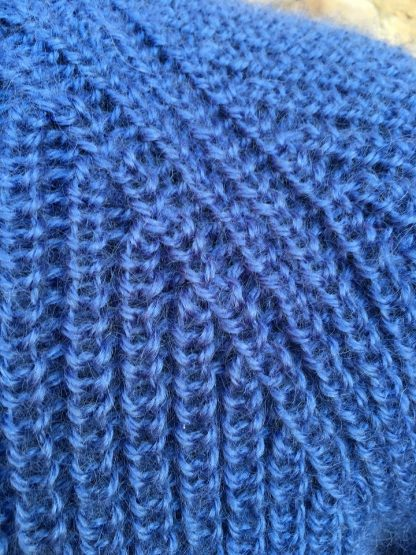 Fishermans Rib sweater - detail Denim
