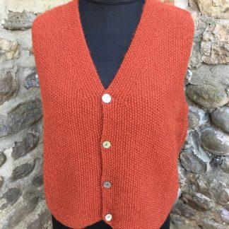 Gents waistcoat - Thornton Rust front