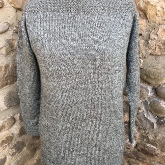 Long Walden jumper - Fennel Marl front