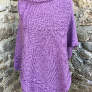 Wensleydale Poncho - Wild Thyme front
