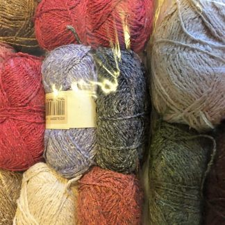 Scrappy bags of Cotton and Silk Tweed yarn - various colours