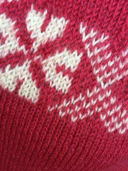 Stanger jumper - Pomegranate and Natural detail