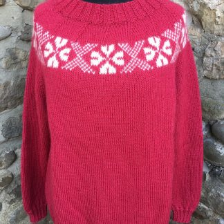 Stanger jumper - Pomegranate front