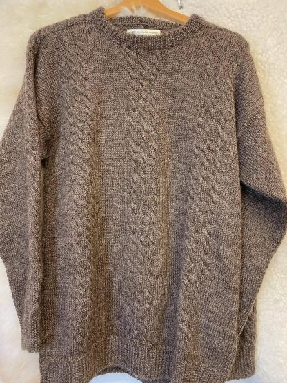 Wensleydale Alistair sweater in Natural Black