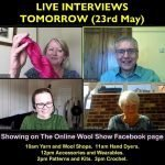 Online Wool Show live interviews with Wensleydale Longwool's Kath top left
