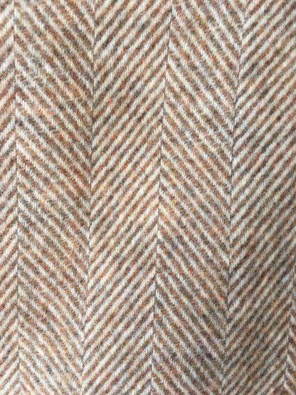 Pure Wool Herringbone Travel Rug - Cinnamon Brown
