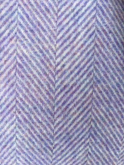 Pure Wool Herringbone Travel Rug - Lilac