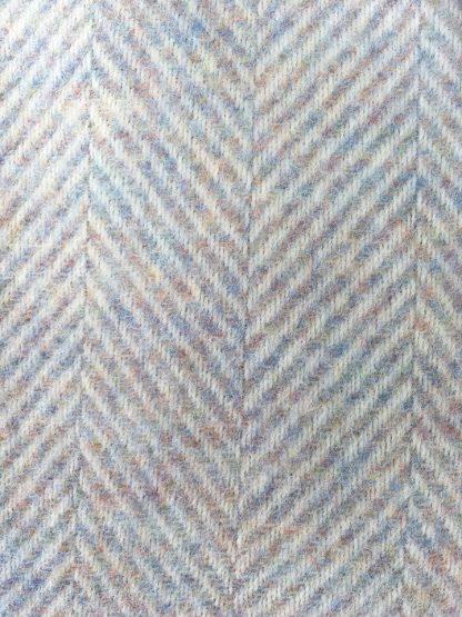 Pure Wool Herringbone Travel Rug - Pastel Shades