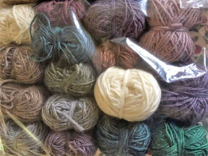 Scrappy Bag of Roving Merino and Mohair 1