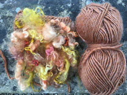 Wensleydale Dyed Fleece Cushion Amber mix