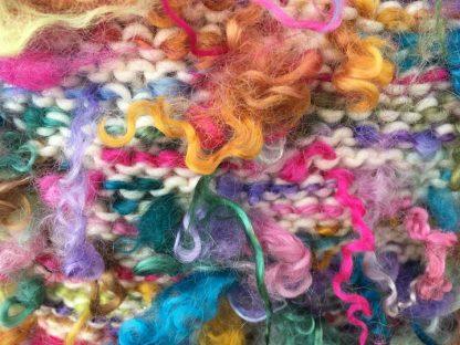 Wensleydale Dyed Fleece Cushion - Rainbow colours