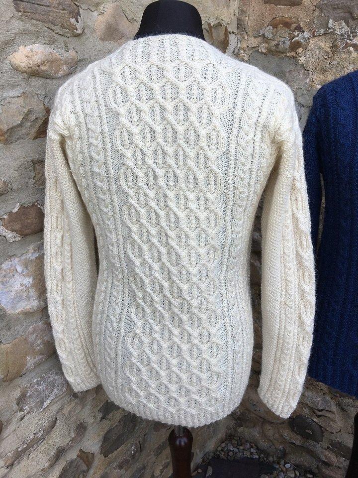 Aldwark Jumper knitting pattern   Wensleydale Longwool ...