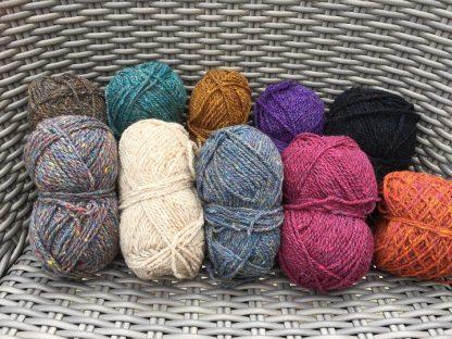 Scottish Tweed Aran - scrappy bag colour mix