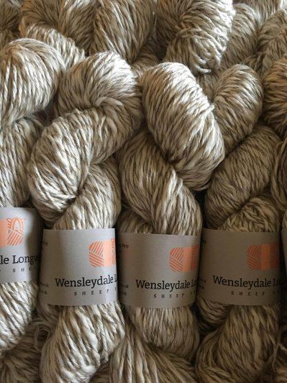 Cotton DK yarn in Natural Marl skeins