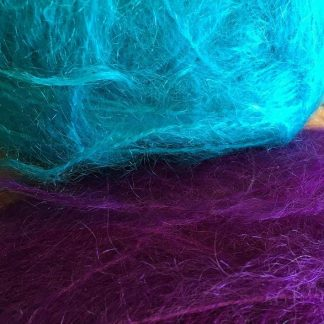 Mohair wool - Purple and Turquoise