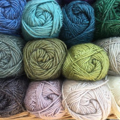 Roving Merino-Mohair wool colours 1