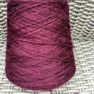 Wensleydale Longwool 4ply on 500g cone in Aubergine colour