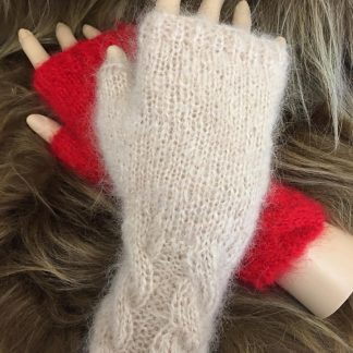 Mohair Fingerless Gloves