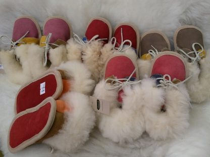 Sheepskin Baby Boots in various colours and sizes