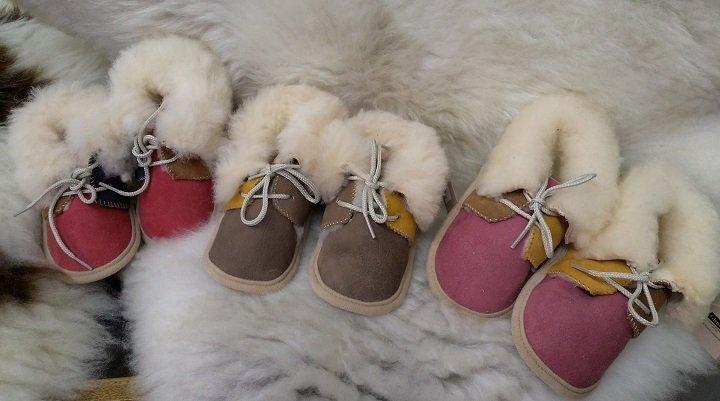Real Sheepskin Baby Boots | Wensleydale