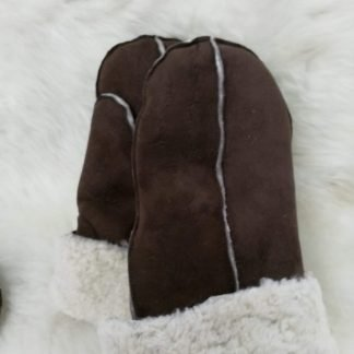 Sheepskin Mittens - Brown