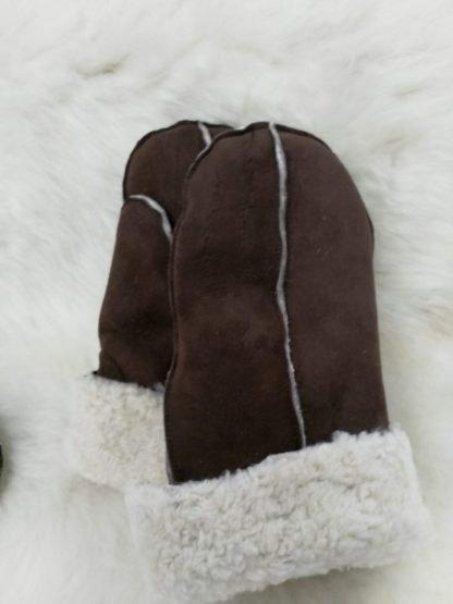 Sheepskin Mittens - Brown