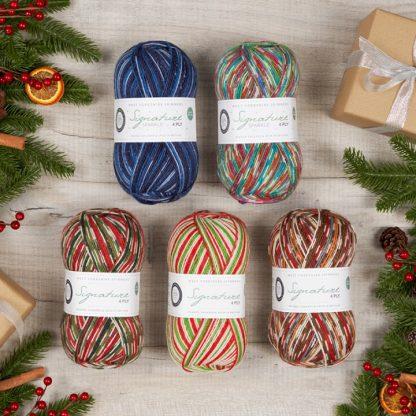 WYS Signature 4ply Christmas yarn